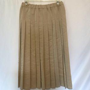 Vintage Marisa Christina Camel Pleated Maxi Skirt
